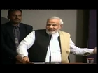 Narendra Modi addressing Global Health Summit, 2014 organised by AAPI in Ahmedabad