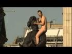 Naked Man Straddles Duke of Cambridge Statue in London