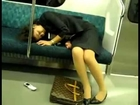 Poor Overworked Japanese Office Lady