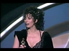 Cher winning Best Actress (Oscar) for Moonstruck