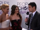 40th Annual People's Choice Awards - Red Carpet Interview: Kat Dennings & Beth Behrs