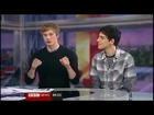 Bradley James And Colin Morgan Interview On BBC Breakfast