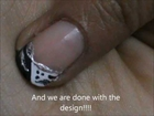 Shimmer French Tip - Easy Nail Design- easy nail art for short nails- nail art tutorial- beginners