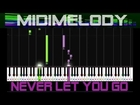 *EASY* Never Let You Go by Justin Bieber Beginner Synthesia Piano Tutorial