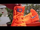 Nike Zoom KD V Mens Shoes Orange and Blue  www.buywholesalecap.com
