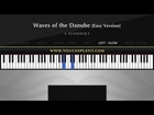 Ivanovici - Waves of the Danube [Easy Piano Tutorial]