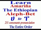 Learn Amharic - Entire Aleph-Bet Ethiopian Language Ethiopic